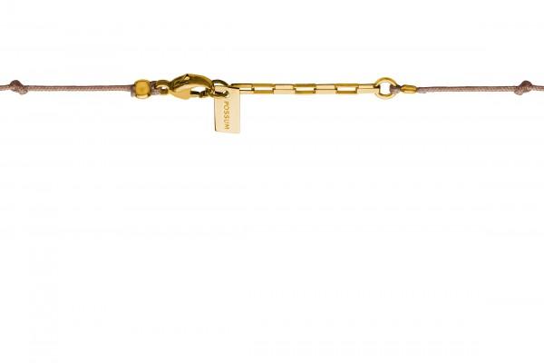 Possum Langes Kettchen Knot 925 Sterling Silber gelbgold vergoldet