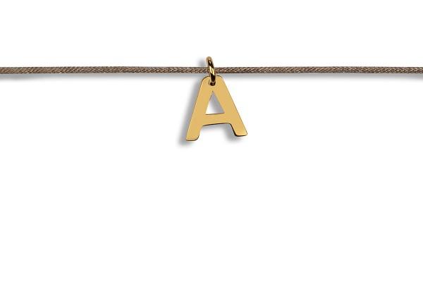 Possum Kettchen Letter 925 Sterling Silber gelbgold vergoldet