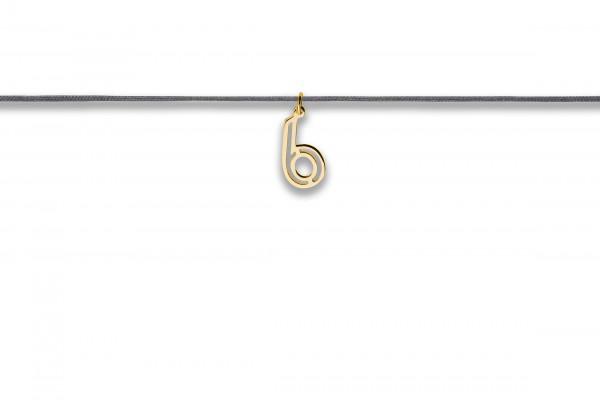 Possum Langes Kettchen That´s my Number 6 925 Sterling Silber gelbgold vergoldet