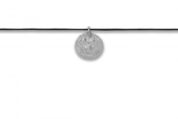 Possum Langes Kettchen Antique Coin Cancer 925 Sterling Silber rhodiniert