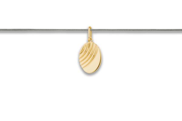 Possum Langes Kettchen Treat me Good-Oval Wave 925 Sterling Silber gelbgold vergoldet