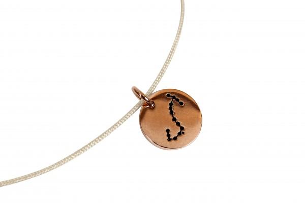 Possum Kettchen Skorpion 925 Sterling Silber rosévergoldet