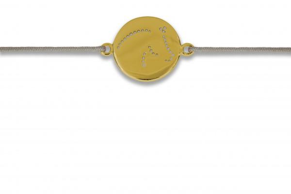 Possum Wunscharmband Cavallo 925 Sterling Silber gelbgold vergoldet