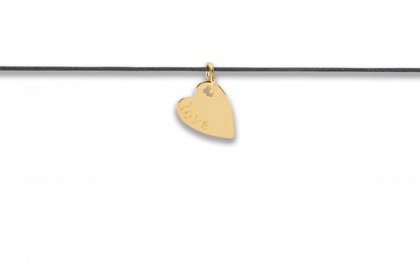 Possum Langes Kettchen Big Love 925 Sterling Silber gelbgold vergoldet