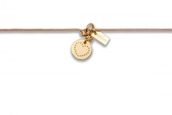Possum Chokerkettchen Little Heart 925 Sterling Silber gelbgold vergoldet