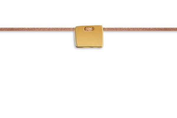 Possum Fußkettchen Rectangle 925 Sterling Silber gelbgold vergoldet