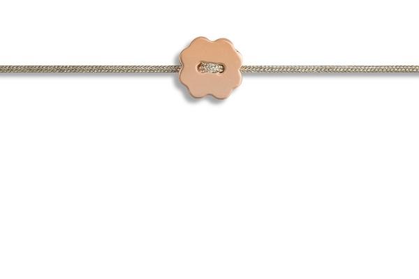 Possum Fußkettchen Shamrock 925 Sterling Silber rosévergoldet
