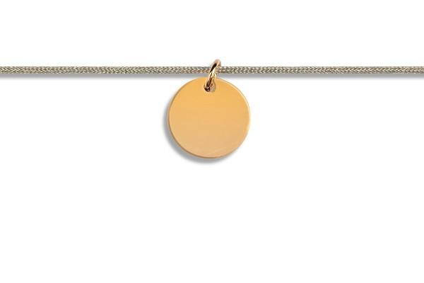Possum Kettchen Blank 925 Sterling Silber gelbgold vergoldet