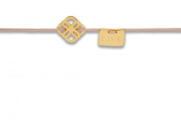 Possum Armbändchen Ornament - Live 925 Sterling Silber gelbgold vergoldet