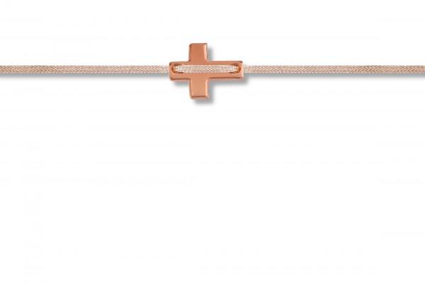 Possum Armbändchen Cross 925 Sterling Silber rosévergoldet
