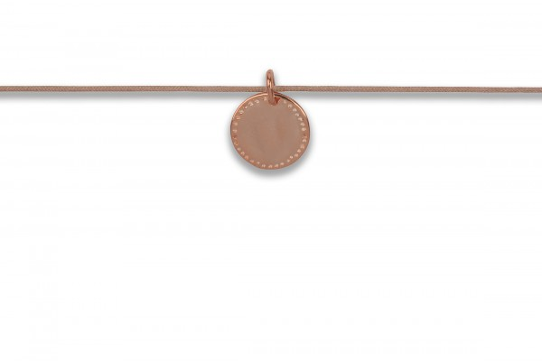 Possum Langes Kettchen Cowgirl Circle 925 Sterling Silber rosévergoldet
