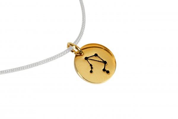 Possum Kettchen Waage 925 Sterling Silber gelbgold vergoldet