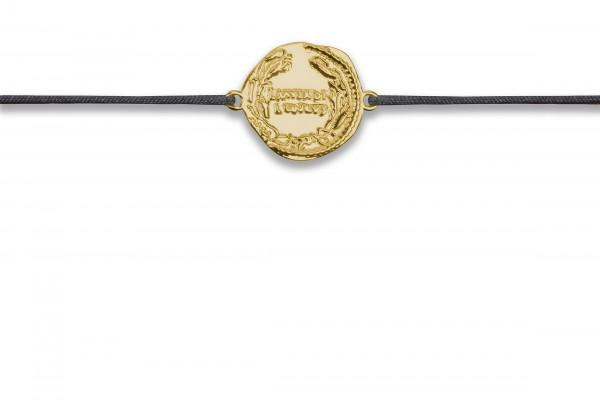Possum Wunscharmband Antique Coin Number 925 Sterling Silber gelbgold vergoldet