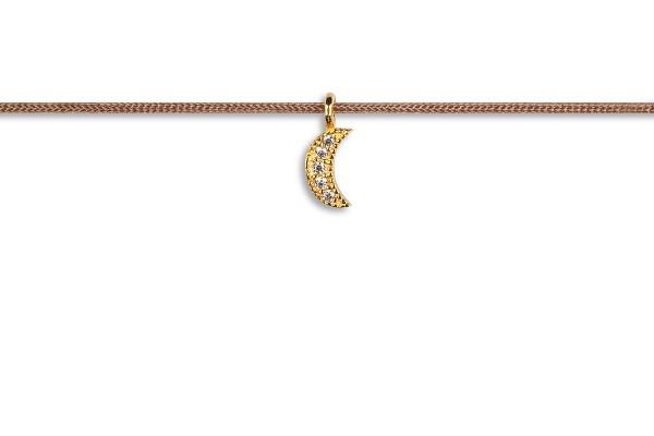 Possum Kettchen Moon-Zirkonia 925 Sterling Silber gelbgold vergoldet