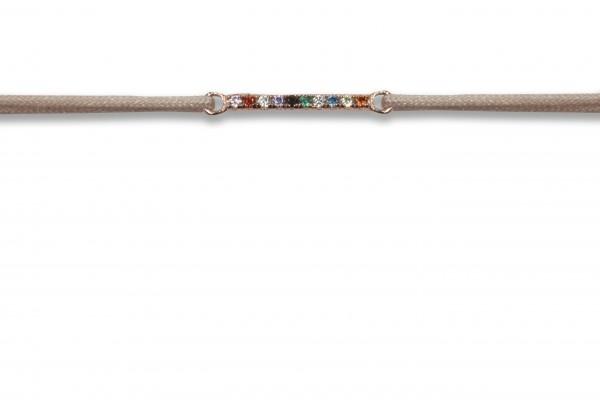Possum Wunscharmband Rainbow 925 Sterling Silber rosévergoldet