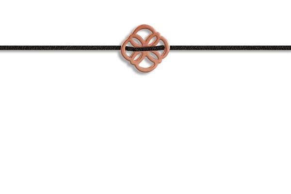 Possum Fußkettchen Ornament 925 Sterling Silber rosévergoldet