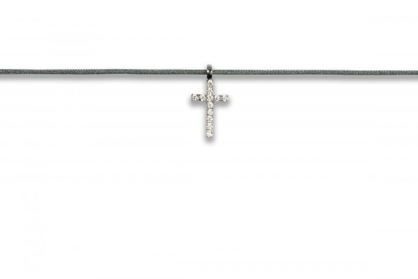 Possum Kettchen Cross Zirkonia 925 Sterling Silber rhodiniert