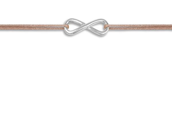 Possum Wunscharmband Infinity 925 Sterling Silber rhodiniert