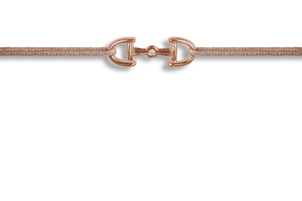 Possum Wunscharmband Horsebit 925 Sterling Silber rosévergoldet