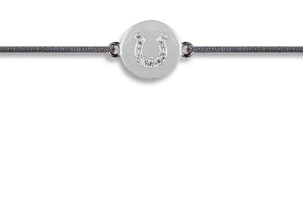 Possum Wunscharmband Horseshoe Zirkonia 925 Sterling Silber rhodiniert
