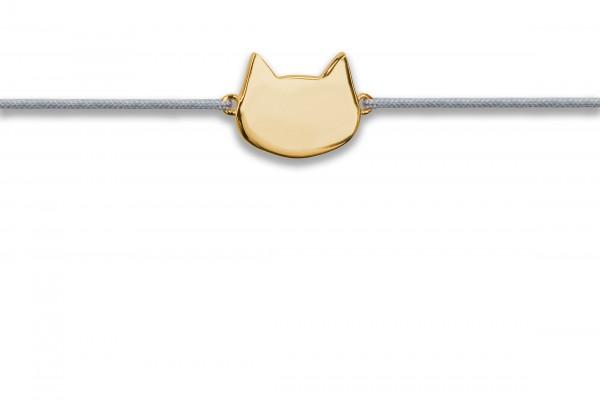 Possum Wunscharmband Cat 925 Sterling Silber gellbgold vergoldet