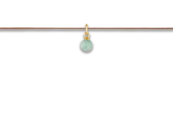 Possum Langes Kettchen Sleep Crystal-Amazonite 925 Sterling Silber gelbgold vergoldet