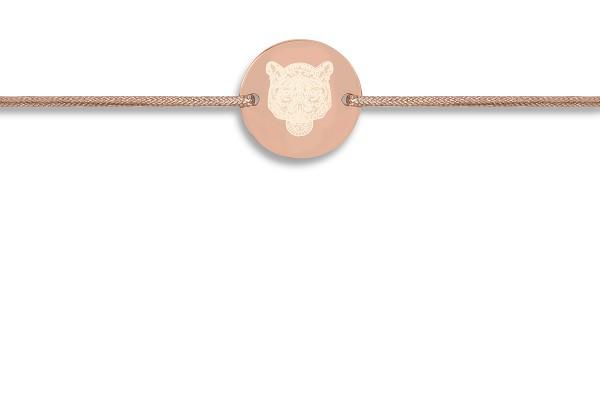 Possum Wunscharmband Tiger 925 Sterling Silber rosévergoldet