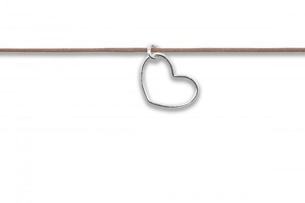 Possum Langes Kettchen Heart 925 Sterling Silber rhodiniert