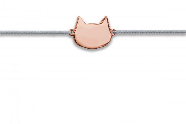 Possum Wunscharmband Cat 925 Sterling Silber rosévergoldet