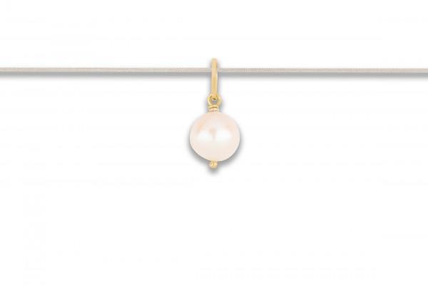 Possum Langes Kettchen Pearl 925 Sterling Silber gelbgold vergoldet