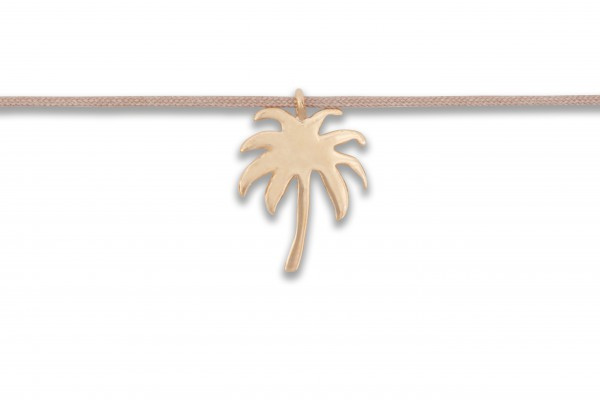 Possum Langes Kettchen Palm Tree 925 Sterling Silber rosévergoldet