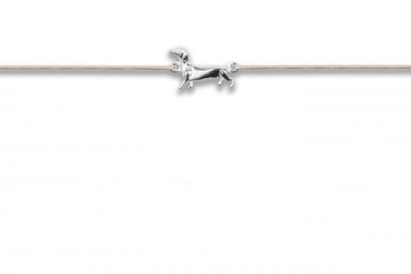 Possum Wunscharmband Wiener Dog 925 Sterling Silber rhodiniert