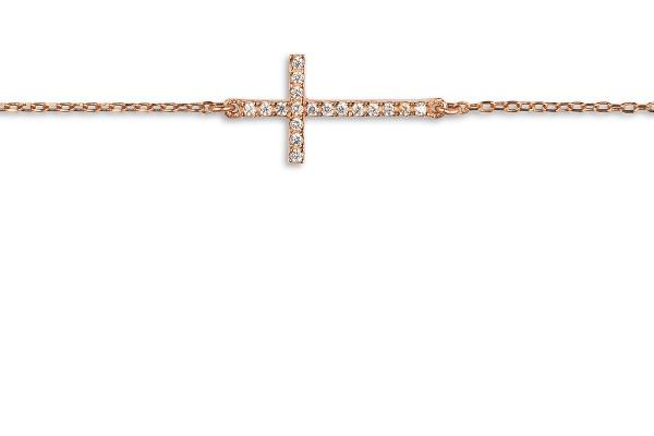 Possum Armkette Cross 925 Sterling Silber