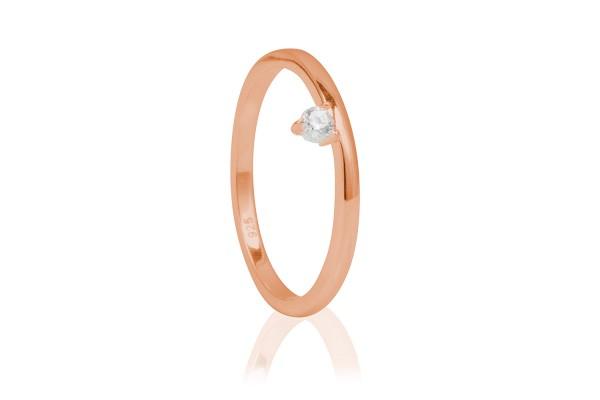 Possum Ring Crystal White 925 Sterling Silber
