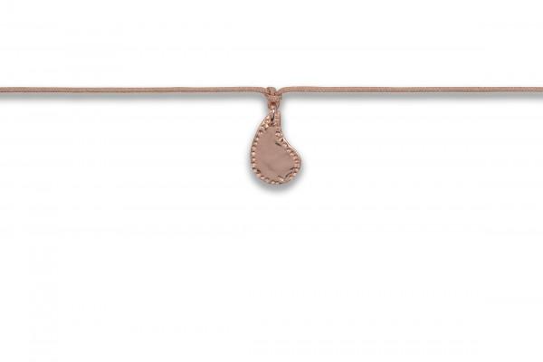 Possum Langes Kettchen Cowgirl Drop 925 Sterling Silber rosévergoldet