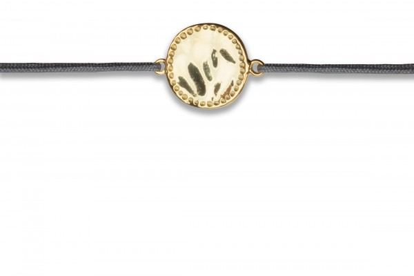 Possum Wunscharmband Cowgirl Circle 925 Sterling Silber gelbgold vergoldet