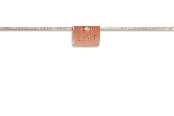 Possum Fußkettchen Live 925 Sterling Silber rosévergoldet